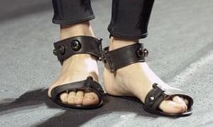 Flat shoes in Lanvin's Paris fashion week show.
