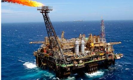 Petrobras rig off coast of Brazil