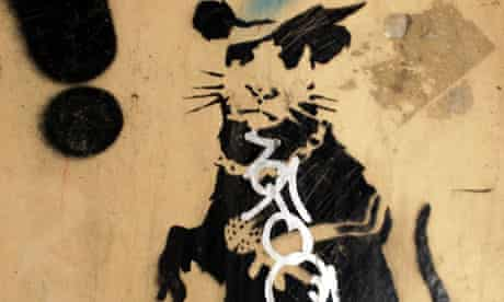 Banksy's Gangsta Rat graffito