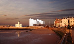 David Chipperfield: Artist's impression of the new Turner Contemporary art gallery in Margate