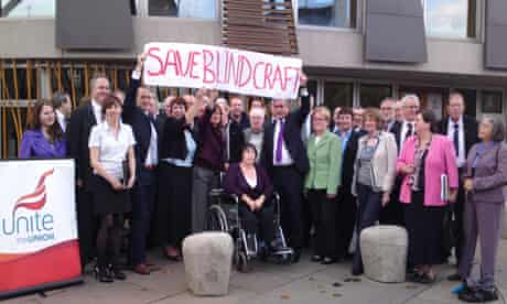 Blindcraft campaign at parliament