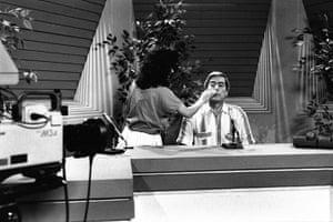 Mario Vargas Llosa: Mario Vargas Llosa sits in a TV studio before he makes a campaign speech