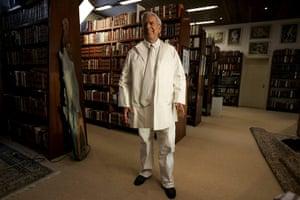 Mario Vargas Llosa: Peruvian writer Mario Vargas Llosa at his home in Lima, Peru in 2009