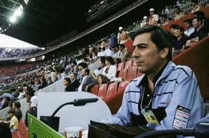 Mario Vargas Llosa: Mario Vargas Llosa at the 1982 World Cup in Spain, as a journalist