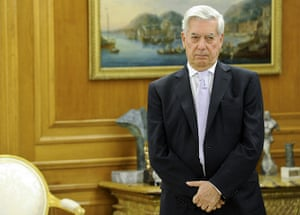 Mario Vargas Llosa: Mario Vargas Llosa before receiving the Don Quixote 2009 award