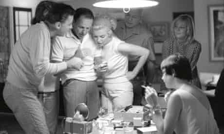 Frank Sinatra and Marilyn Monroe with Peter Lawford.