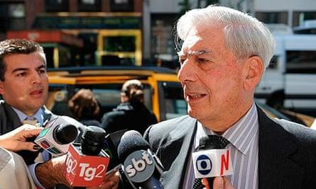 Mario Vargas Llosa the Peruvian writer