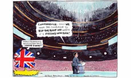 Steve Bell's cartoon from 5 October 2010.