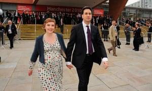 Ed Miliband and Justine Thornton