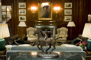 Savoy hotel reopens: A statuette in one of the reception rooms