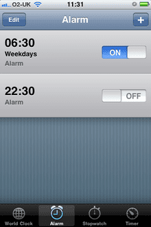 iPhone alarm fail