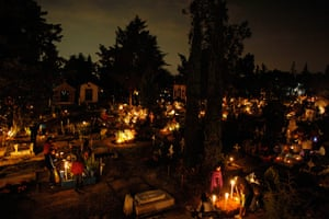 All saints day: General view of a cemetery during the Day of the Dead in San Gregorio