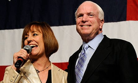 Sharron Angle and John McCain in Las Vegas