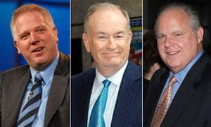 Glenn Beck, Bill O'Reilly and Rush Limbaugh