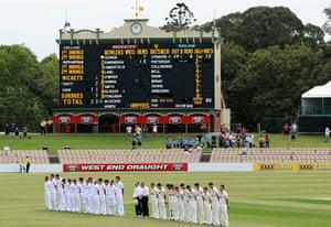 Remembrance day: South Australia v England - Day 1