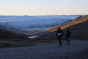 Polar circle: Polar Circle marathon - me right