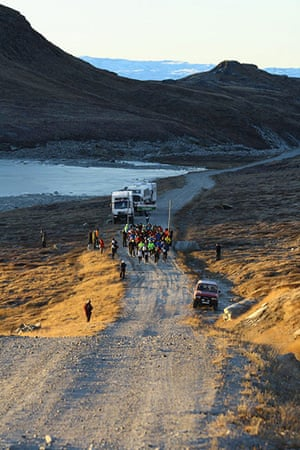 Polar circle: Polar Circle marathon start