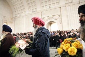 Remembrance day: eremony under the Menin Gate in Ypres, Belgium