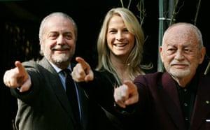 Dino Di Laurentiis: Dino De Laurentiis, his wife Martha Schumacher and his son Aurelio