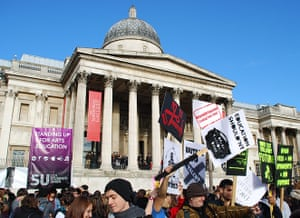 Student Protest Images: Student Protest in London - Images from protestors