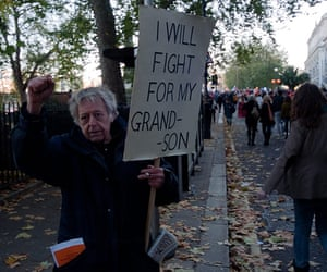 Student Protest Images: Student Protest in London - Grandfather