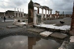 Pompei Ruins Collaps: The Forum, Pompei, Italy