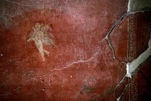Pompei Ruins Collaps: Fresco, at the House of Menander, Pompei, Italy