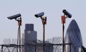 CCTV cameras on poles in London. CCTV cameras on poles in London. CCTV cameras on poles in London