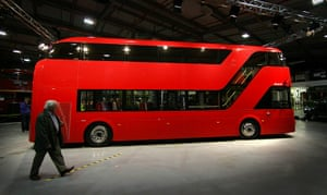 New Bus unveiled: Boris Johnson Unveils A Mock Up Of The New Routemaster Bus