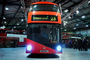 New Bus unveiled: The front of the New Bus