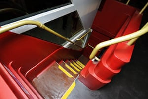 New Bus unveiled: Stairs inside the bus from the top deck