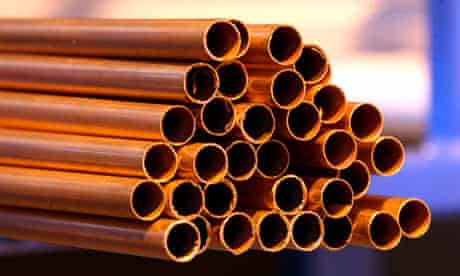 copper heating pipes