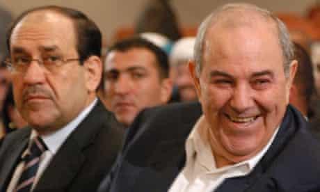 Iraq's prime minister Nuri al-Maliki (left) and former Iraqi premier and Iyad Allawi