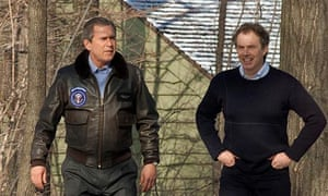 George Bush and Tony Blair at Camp David
