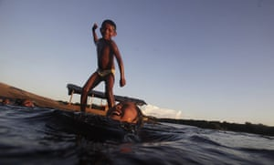 From the agencies: Children from the Bare tribe play in Santa Isabel do Rio Negro
