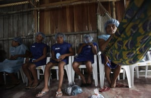 From the agencies: Men wait for their surgery in Santa Izabel do Rio Negro, northern Brazil