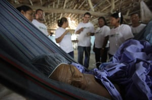 From the agencies: Man rests after doctors removed a cancer tumor in Santa Isabel do Rio Negro