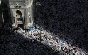 Hajj In Mecca: Tens of thousands of Muslim pilgrims pray inside the Grand Mosque in Mecca