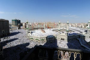 Hajj In Mecca: Muslim pilgrims perform Friday prayers in Mecca Hajj