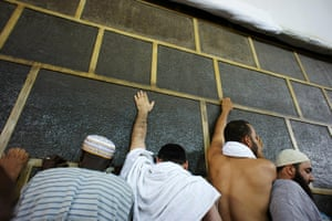 Hajj In Mecca: Muslim pilgrims reach to touch the Kaaba in Mecca