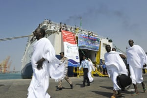 Hajj In Mecca: Muslims pilgrims from Sudan and Egypt arrive from Sudan and Egypt