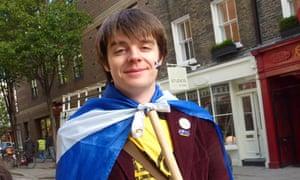 Edinburgh student Andrew Burnie in London