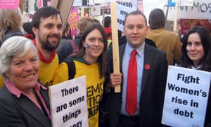 Edinburgh MPs Sheila Gilmore and Ian Murray join students at the protest in London