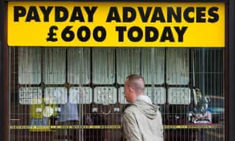 A pawn shop advertising payday loans