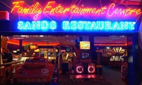 Amusement arcade at Pontin's Camber Sands resort in Sussex.