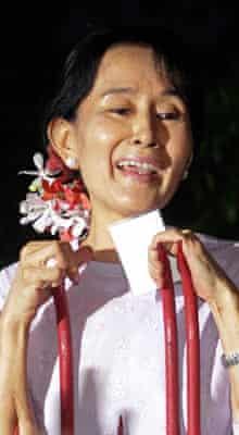 Aung San Suu Kyi is freed in Burma