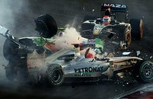 formula one: Mercedes GP's German driver Michael Schu
