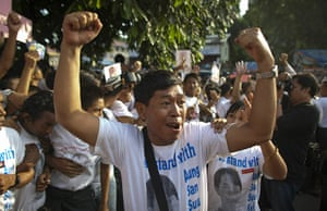 Aung San Suu Kyi release : A supporter of Myanmar's detained opposition leader Aung San Suu Kyi