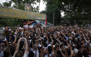 Aung San Suu Kyi release :  Aung San Suu Kyi addresses her supporters