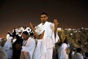 Hajj in Mecca: Muslim pilgrims congregate on the day of Arafat